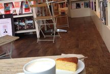 Bookshop cafes / Places to relax with a book and some cake, and tea, or coffee, the important part is the relaxing