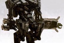 War mechs, machines, android