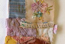 collage textile- tkanina