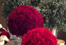 Christmas flower displays / A combination Christmas flower arrangements.  Hope this gives you some ideas for the Holiday season.