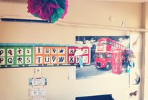 Classroom decoration / English classroom decoration preschool