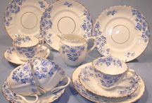 Victorian and antique Blue and White