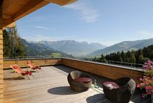 Holzhotel Forsthofalm, Austria / Experience a unique ambiance at 1,050m altitude. This timber hotel is built according to sound ecological principles from solid moon-phase harvested timber. Immerse yourself in nature no matter the season, at this exceptional abode.
