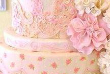 Roze bruidstaarten / Roze bruidstaarten