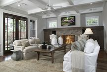 Family room / The coziest and most beautiful rooms to hang out with the family!  I'd love to take ideas for all of these great family rooms!