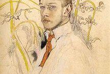 Kazimierz Sichulski / Kazimierz Sichulski (1879–1942) was a Polish painter and printmaker, a representative artist of the Young Poland period.  Sichulski trained at the Jan Matejko Academy of Fine Arts from 1900 to 1908, under Leon Wyczółkowski, Józef Mehoffer, and Stanisław Wyspiański. In 1936 he was awarded the Golden Laurel of the Polish Academy of Literature.