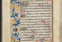 Kalligrafie -geillumineerde letters en randen / randen maken en letters