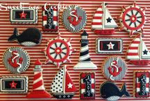 Decorated Nautical, Beach and Sea Creature Cookies / by Kelly Dumont