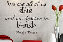 Marilyn Monroe Quotes & Wall Decals / Vinyl Wall decal & decor inspired by Marilyn Monroe