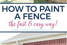 Paint your own fence