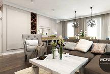 Elegancki dom w amerykańskim klimacie / Dzisiaj coś w nieco innym stylu, nasz najnowszy projekt domu w amerykańskim klimacie! Stonowane kolory ścian stanowią tło dla stylowych mebli. Podstawą wnętrza jest też bogata sztukateria zdobiąca ściany i sufity. Nasz projekt to połączenie szykownej elegancji wnętrza z komfortem użytkowania   Po więcej inspiracji zapraszamy na naszą stronę: http://monostudio.pl/ oraz na Facebooka