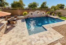 Geometric Pool Design / Sharp edges. Clean lines. Presidential Pools, Spas & Patio proudly builds elegant geometric pool designs throughout Arizona.