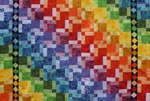 Rainbow quilt disappearing nines