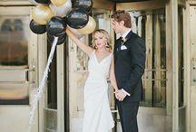 Gold & Black / Gold & black wedding theme with natural confetti ideas from The confetti cone company www.confetti-cones.co.uk