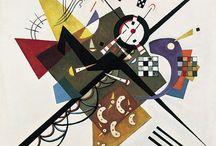 Vasili Kandinski /  Pintor ruso, precursor de la abstracción en pintura, y teórico del arte. Se considera que con él comienza la abstracción lírica y el expresionismo.