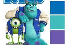 Disney colour palette