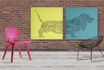 GRAPHICS ART for HOME by deko boko / to make your surrounding more inspired. play with colour and form.