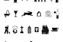 Icons, symbols, graphics