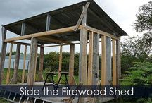Firewood Storage Shed Building Steps / How to build a firewood shelter. Detailed instructions pictures. How-to guide. Drying shed idea for your firewood.