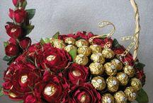 Σοκολατάκια μέσα σε γκοφρέ λουλούδια