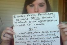 'I DON'T NEED feminism because...' / This is an emerging worldwide phenomenon in the social media in which young women are openly rejecting the man hating aspects of feminism and its relentless attack on maleness. Many of them have sons about whom they are very worried.  They reject the institutionalised feminism that is marginalising men in society and punishing them simply because they are men.  They reject the notion of patriarchy and say to their sisters who believe in it that they are engaging in 'feminist hypocrisy'.