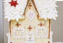 Joulun syötävät koristeet / Piparkakkutalot, koristeet..