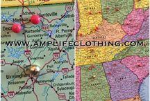 Amp Life Clothing® Map