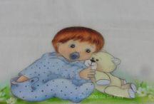 Pintura em fralda menino