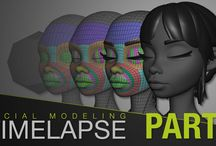 3d facial modelling and topology