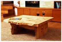 Különleges asztalok / A Bútor-Trió által gyártott különleges asztalok Natural Kemény Bútorolajjal kezelve
