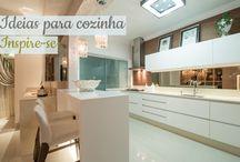 Decoração cozinhas! / Veja + Inspirações e Dicas de decoração no blog!  www.construindominhacasaclean.com