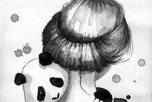 holka a panda