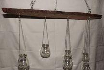 Světlo do duše / Nádherné svícny - dřevěné, skleněné nebo třeba kombinované. Závěsné velké svícny do altánů nebo menší až malé stolní svícny.