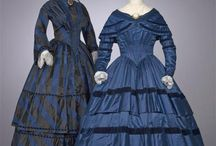 Dresses from the 19th century / Illustrations, (modern day) pictures, and even exact replicas of dresses from the 19th century, with a focus on the 1840's and 1850's.