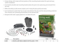 Living Wall / A place for pictures of living/green walls.  Check out our vertical garden kit if you're thinking about starting your own! http://www.digcorp.com/drip-irrigation-homeowner/living-wall-vertical-garden