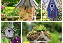 """Welcome"" little Birds / Birdhouses of all shapes and sizes, colors and etc. / by Sharon DaSilva"