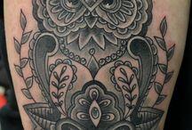 Eule - Tattoos