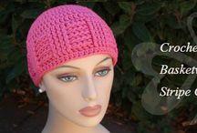 Crochet beanies, headbands etc