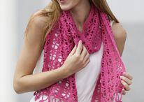 Crochet,knitting -  scarves I / háčkování, pletení -šátky,šály,vzory vhodné na šály