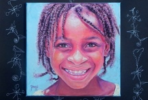 My Paintings: Moni's Kids, a  non-profit project using art to help children in need / by Daggi Wallace Studio