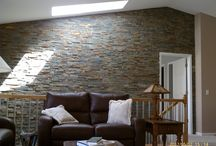 Tile & Stone Walls / Beautiful creations with tile and stone - not on floors!