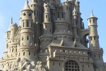 and sandCASTLES in the air / sand art & sculpture