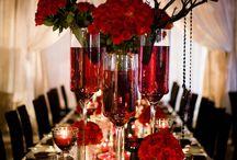 Black Red Wedding Inspiration