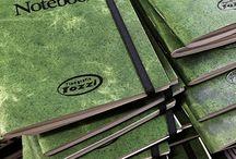 Notebook by tipografia tozzi / La nuova linea di notebook vintage in versione green. Per la pagine interne è stata utilizzata una carta riciclata grigia solitamente usate per la stampa dei quotidiani.