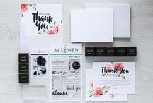 "Altenew - Thank You Stamping Kit / Add beautiful hand stamped florals to your Thank You cards to make them that much more special and make the recipient say ""Wow!"". You can use our Thank You Kit to create Thank You's for a variety of different occasions.  Pair it with our Wedding Kit for more personalized and completed invitation set and stationary set! http://altenew.com/collections/new/products/thank-you-stamping-kit"