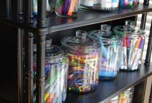 Craft room/kids space / by Heather Forthofer