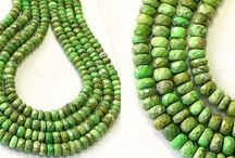 Stone Beads > Gaspeite Beads / Natural Gaspeite Beads in a variety of shapes and sizes.