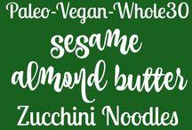Zuccinni noodles.