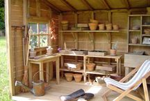 Farm potting shed
