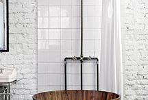 Industrial-style bathrooms